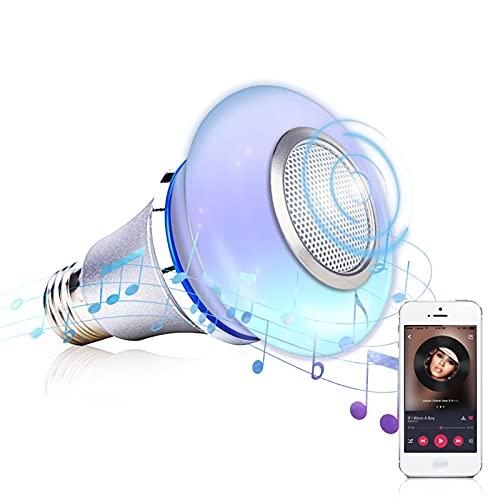 Bombilla LED Inalámbrica, Bombilla Música Inteligente RGB, Interfaz Tornillo E27 Aplicación Creativa Controlar Bombillas LED, para Fiestas, Hogar, Vacaciones Iluminación Decorativa
