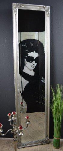 Standspiegel 180 cm Spiegel Wandspiegel Silber Weiß Gold Schwarz antik barock Landhaus Ankleidespiegel NO (Silber)