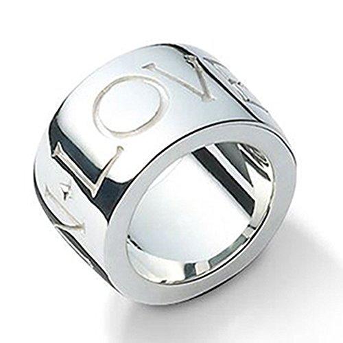 massiver Silber Ring - hochwertige Goldschmiedearbeit aus Deutschland mit Tiefengravur TRUST IN LOVE (Sterling Silber 925) schlichter schwerer Silberring - Damenring Herrenring Partnerring