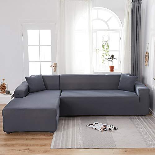Fundas de sofá Impresas en Forma de L para Sala de Estar Protector de sofá Antipolvo Fundas de sofá elásticas para sofá de Esquina seccional A10 1 Plaza