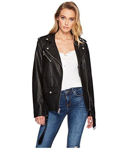 Levi's Women's Oversized Faux Leather Belted Motorcycle Jacket, black, XL