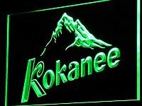 Kokanee Beer LED看板 ネオンサイン ライト 電飾 広告用標識 W40cm x H30cm グリーン