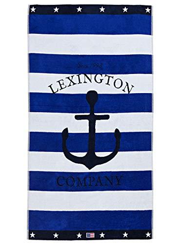Lexington Handtuch 180x100 blau / weiß