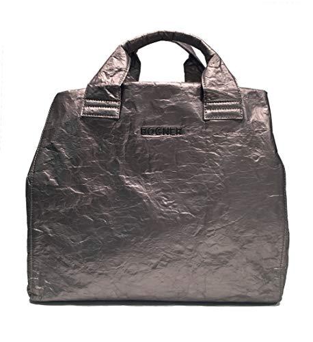 Bogner Damen Serfaus Zaha Shopper Xlho Tote, Silber (Platin), 25x34x70 cm