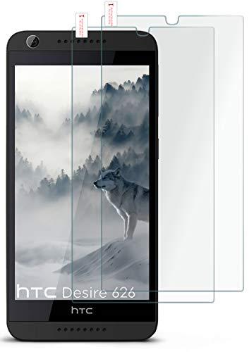 MoEx® Matte Panzerglasfolie aus 9H Echtglas passend für das HTC Desire 626G   Kratzfest, Entspiegelnd + Reduziert Fingerabdrücke