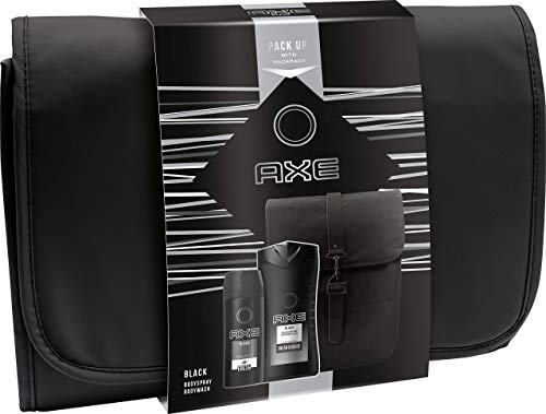 Axe Geschenkset Black mit exklusivem Rucksack (Deospray 150 ml, Duschgel 250 ml und Rucksack)