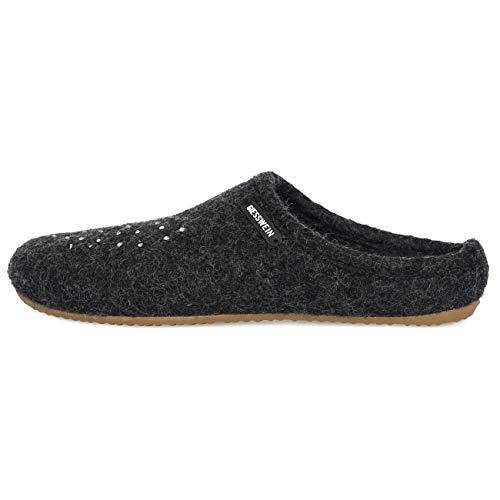 Giesswein Velden, Pantofole Donna, Grigio (Anthrazit 019), 42 EU