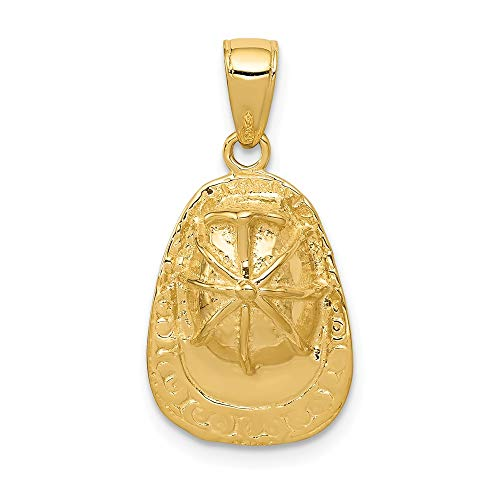 Black Bow Jewellery Company 3 D Aufkleber, Feuerwehrfrau--Hut Herren-Anhänger, 14 Karat Gelbgold