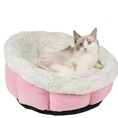 Vejaoo Katzenbett Weiches und Komfortables Katzennest Warm im Herbst und Winter Tiefschlaf Bett für Katzen XZ031 (Pink)