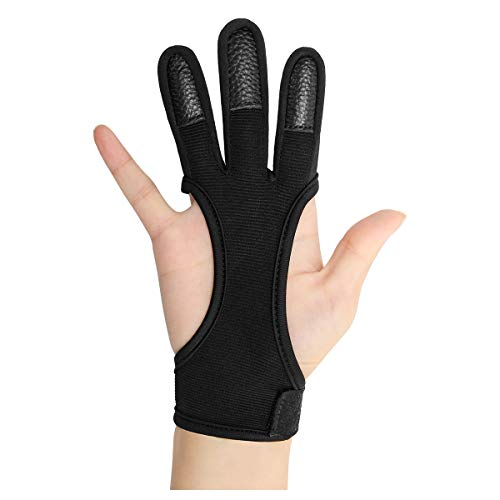 Coolrunner Archery Glove Three Finger Leather Archery Protective...