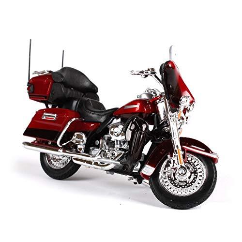 DSWS Kit de modelo de motocicleta 1:18 para Harley Davidson para Electra Glide Ultra 2013 motocicleta modelo de metal para niños regalo de cumpleaños colección (color: 2)