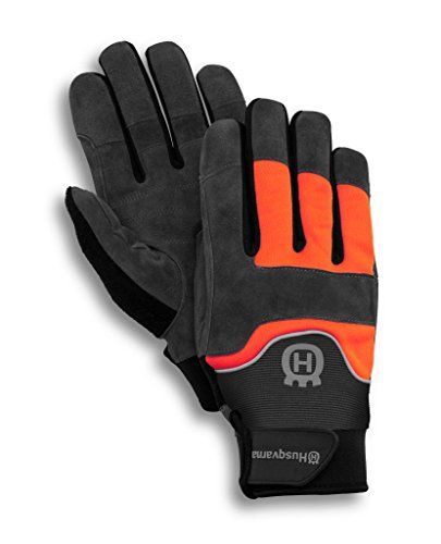 Husqvarna Technical Light Gartenhandschuhe Leder schwarz, Polyester, Orange