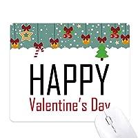 バレンタインデーの祝福の祭りの休日を祝う祭りの祝賀の言葉 ゲーム用スライドゴムのマウスパッドクリスマス