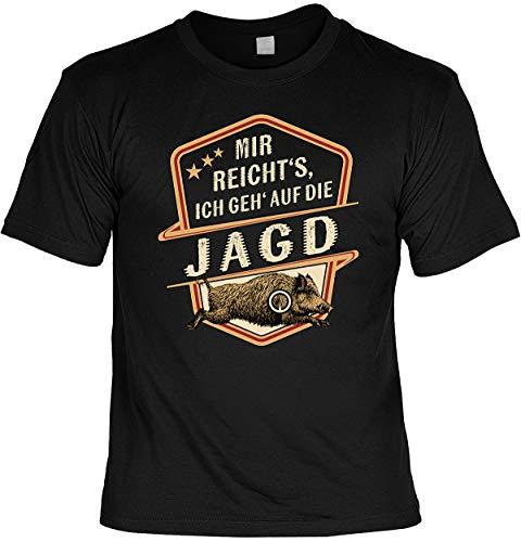 Lustiges Fun T-Shirt Jäger - Mir Reicht s Ich GEH auf die Jagd - Jäger Förster mit Urkunde