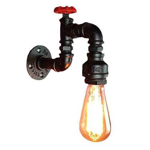 Mengjay Tubos Americano Retro Industrial Ligero de la Pared E27 Edison Pared Vintage Aplique el Agua del Grifo lámpara de Pared de Steampunk Entrada Pasillos Escaleras Creativa Restaurante Bar (A)