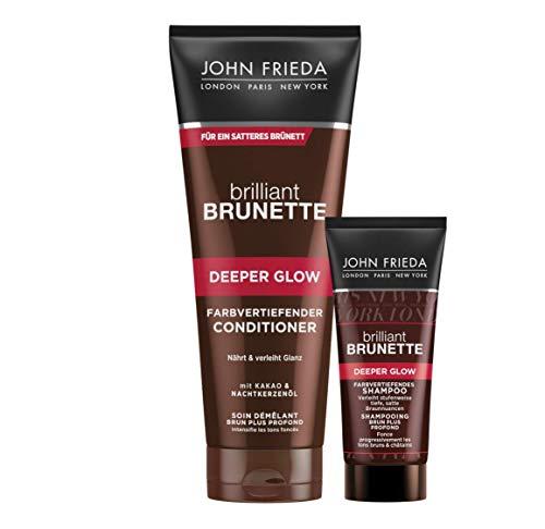 John Frieda Brilliant Brunette Deeper Glow - Farbvertiefender Braun-Conditioner, 300 ml