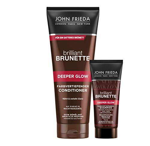 John Frieda Brilliant Brunette Deeper Glow - Farbvertiefender Braun-Conditioner, 300 ml