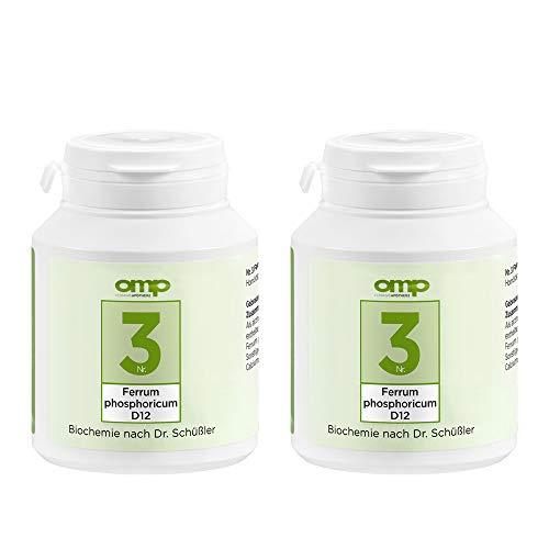 Schüssler Salz Nr. 3 Ferrum phosphoricum D12   800 Tabletten (2 x 400 Stk.)   Das Salz des Immunsystems und Abwehrkraft   glutenfrei