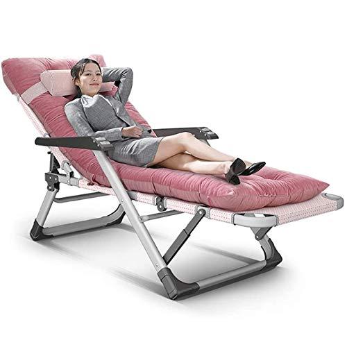 LOVEHOUGE Sillón reclinable plegable, con gravedad cero, ajustable extra ancha con cojines para oficina al aire libre, patio de playa, soporte de 200 kg