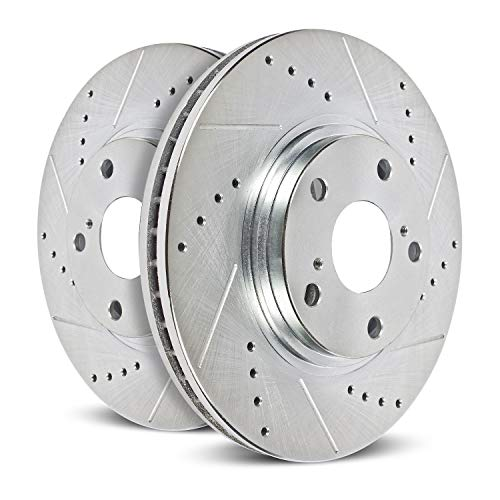 Power Stop JBR1738XPR rear Evolution Performance Drilled, Slotted& Plated Brake Rotor Pair