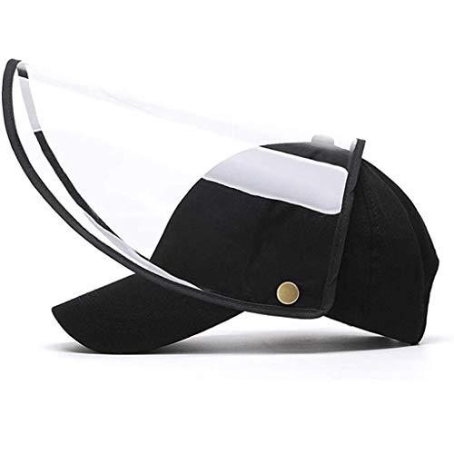 Yhgpom Berretto da Baseball a Doppio Uso, per Uomini e Donne, con Maschera Protettiva, Classico Regolabile, Cappello Sportivo Casual con Visiera Parasole Cappello Protettivo (Nero)