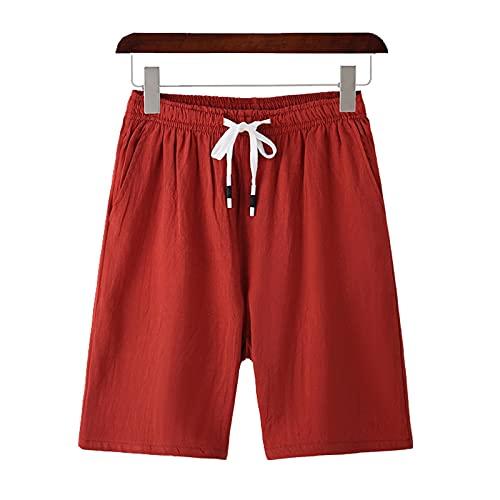 Shorts Pantalones Cortos Hombres Pantalones Cortos para Hombre, Pantalones Cortos 100% Algodón, Estilo De Moda para Hombre, Cómodos Pantalones Cortos De Playa, Bañadores Informales para Hombre, P