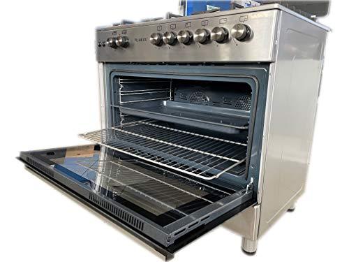 Cucina da 90x60 Lar.El tutto forno a Gas 5 fuochi acc. elettrica