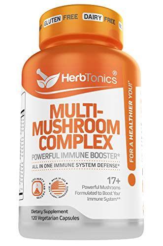Mushroom Supplement Complex for Humans Immune System Defense Support with Lion