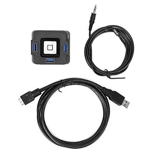 Interruptor de alimentación Externo Amplia compatibilidad Ampliamente Utilizado Estabilidad 3 en 1 Compacto Práctico para computadora de Escritorio