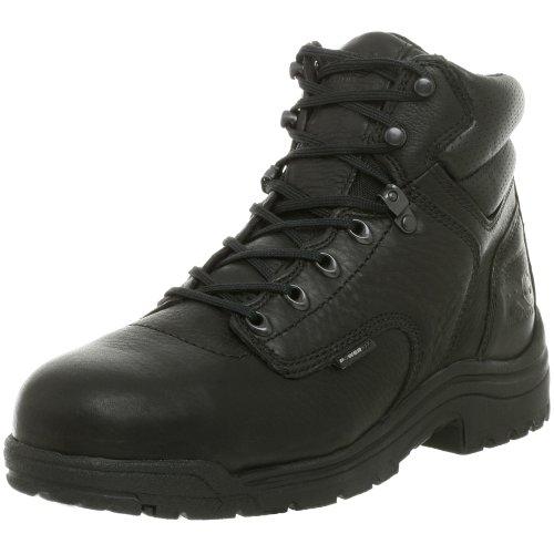 Timberland PRO Men's 26064 Titan 6' Safety Toe Boot,Black,14 W