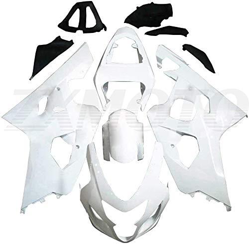 ZXMOTO Unpainted Motorcycle Injection Bodywork For 2004 2005 Suzuki GSXR 600 Fairings Kit/04 05 GSXR 750 ABS Plastic Fairings