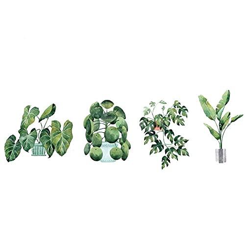 JYKFJ Etiqueta de la Pared de la Planta en Maceta Verde calcomanía de Pared extraíble para decoración artística para Sala de Estar Dormitorio Cocina guardería hogar