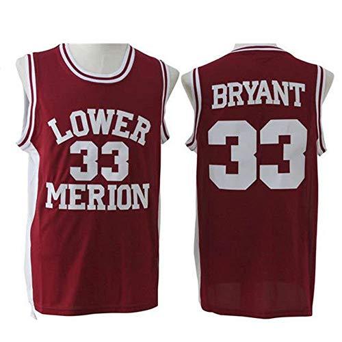 Wanjun Nr. 33 Kobe High School Basketballuniformen Spieluniformen Ärmelloser Basketballanzug Geeignet Für Basketballspiele Los Angeles Lakers Kobe Bryant,XXXXL
