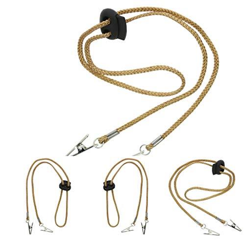 non-brand 4 Stück Verstellbare Serviettenkette Serviettenkettchen Serviettenhalter mit Clip für den Hals