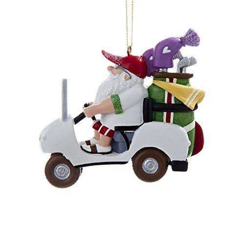 Kurt Adler 3.25' Resin Santa IN Golf Cart Ornament