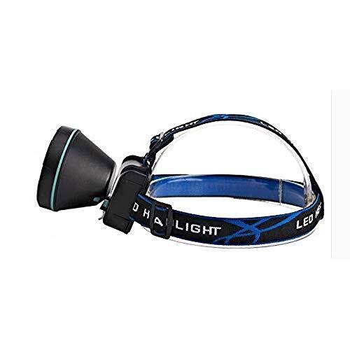 Faiol Antorcha de la cabeza de Al aire libre Pesca blanca luz de carga de la linterna super brillante diadema, ultra brillante LED cabezal de la antorcha de los lúmenes, correa ajustable, resistente a