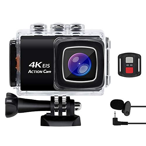 ZCFXGHH 4K WiFi Sports Action Camera Ultra HD Waterproof DV Camcorder 20MP 170 Degree Wide Angle is The Best for Family and Friends