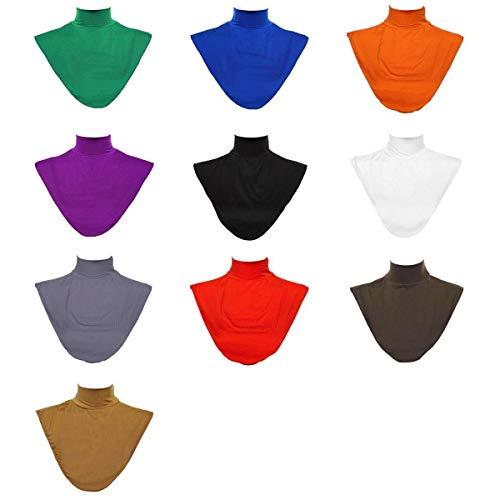 joyMerit 10x Damen Blusenkragen Einsatz, Kragen für Blusen und Pullover, Muslim Rollkragen