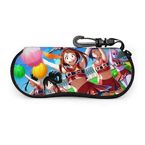Gafas de sol Anime My Hero Academy Juego de gafas de protección portátil con cremallera de neopreno suave para viajes
