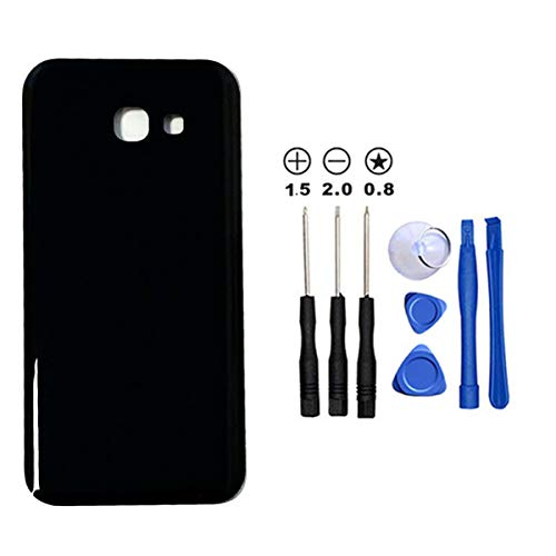 Snailcanfly Reemplazo para Samsung Galaxy A5 (2017) Duos A520 A520F A520K A520L A520S A520W 5.2inch Vidrio Trasero Tapa de la batería Carcasa de Puerta Trasera Black