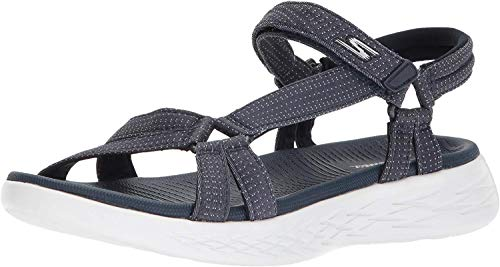 Skechers On The Go 600, Sandlai Sportivi Donna, Blu (Navy 15316-NVY), 39 EU