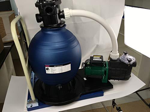 Profi Leis Sandfilteranlage 14 m ³ Sandfilter Pumpe 550 W Poolfilter Filter 100kg komplett mit Wagen