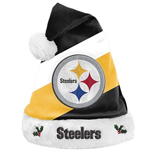 Foco NFL Pittsburgh Steelers Basic Santa Claus Hat Kerstman muts