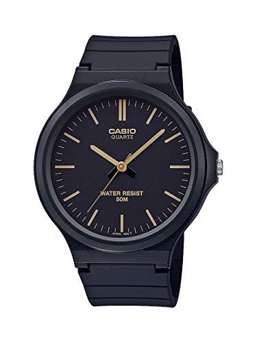 Casio Reloj Clásico de Cuarzo con Correa de Resina, Negro, 21.45 (Modelo: MW-240-1E2VCF)