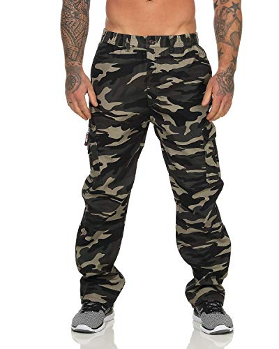 SEZON Herren Thermohose Camouflage Cargohose Winter warm Fleece gefütterte Arbeitshose Outdoor (camouflage1, 3XL)