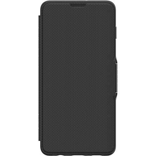 Gear4 Oxford Folio Case with Advanced Impact Protection [ Protected by D3O ], Stand Function, Card Slots, Compatible with Samsung Galaxy S10+ – Black