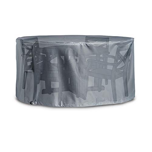 VonHaus Housse de Protection imperméable pour Salon de Jardin Premium – 142 x 142 x 68 cm – Grise