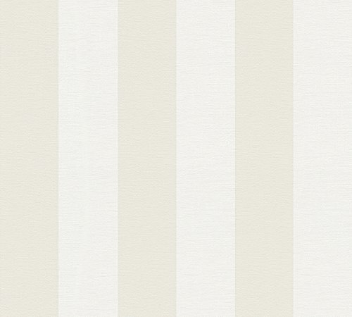 A.S. Création Vliestapete Liberté Tapete Landhaus Shabby Chic 10,05 m x 0,53 m beige weiß Made in Germany 314055 3140-55