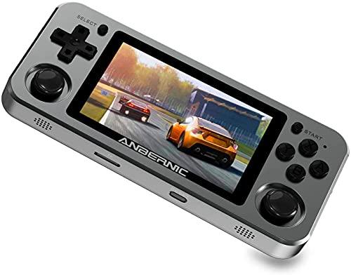 Anbernic RG351M Handheld Spielkonsole WiFi, Retro Spielekonsole mit 64G TF Card 2500 Spiele, Unterstützung PSP, NDS, DC, RK3326 Quad Core 1,5 GHz, Aluminiumlegierung Retro Konsole 3,5