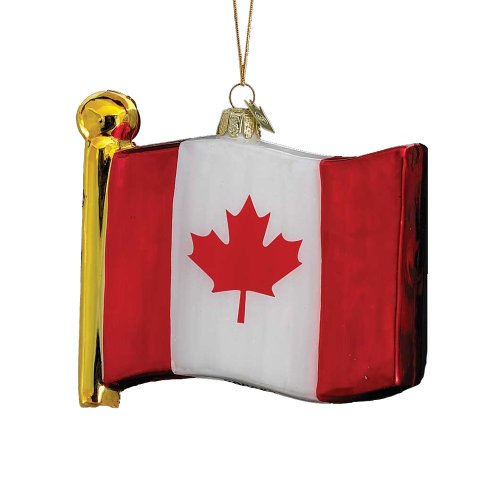 Noble Gems Kurt Adler 4-1/2-Inch Flag of Canada Ornament